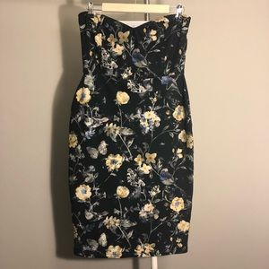 ASOS Floral Strapless Dress